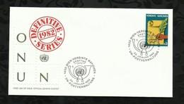 NATIONS-UNIES . FDC . SERIES DEFINITIVE  . 22 JANVIER 1982  . WIEN . - FDC