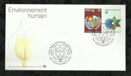 NATIONS-UNIES . FDC . ENVIRONNEMENT HUMAIN  . 19 MARS 1982  . WIEN . - FDC