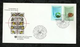 NATIONS-UNIES . FDC . CONSERVATION ET PROTECTION DE LA NATURE . 19 NOVEMBRE 1982  . WIEN . - FDC
