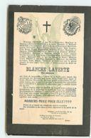 Blanche Laverte Née Absinthe - Pernot Pontarlier - Avis De Deces - Funérailles