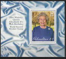 Gibraltar 2001 Her Majesty Queen Elizabeth II's 75th Birthday, Mi Bloc 45,MNH(**) - Gibraltar