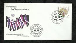 NATIONS-UNIES . FDC . 03 FEVRIER 1984  . WIEN . - FDC