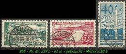 Mi. Nr. 259 B - 61 In Gebraucht - Danzig