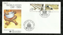 NATIONS-UNIES . FDC . 15 MARS 1984  . WIEN . - FDC