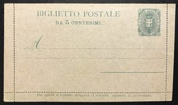BIGLIETTO POSTALE DA 5 CENT  Nuovo Perfetto COD.C.2088 - Storia