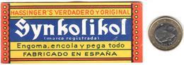 ETIQUETA  -SYNKOLIKOL -FABRICADO EN ESPAÑA - Publicidad