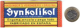 ETIQUETA  -SYNKOLIKOL -FABRICADO EN ESPAÑA - Sin Clasificación