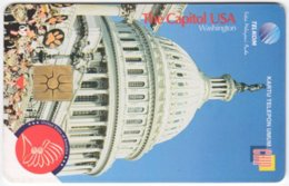 INDONESIA A-258 Chip Telekom - Landmark, The Capitol, Washington - Used - Indonesien