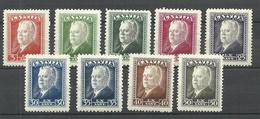 LETTLAND Latvia 1937 Michel 253 - 261 * - Lettonie