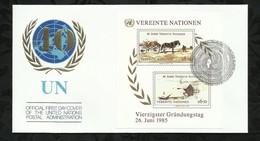 NATIONS-UNIES . FDC . 26 JUIN 1985  . WIEN . - FDC