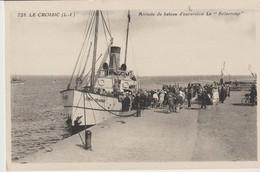C. P. A. - LE CROISIC - ARRIVEE DU BATEAU D'EXCURSION LE SOLACROUP - 728 - - Le Croisic