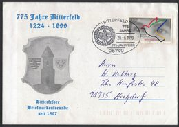 AO122    Germany 1999 BITTERFELD Wappen, Coat Of Arms, Armoiries On Envelope And Special Postmark - Enveloppes