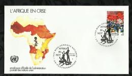 NATIONS-UNIES . FDC . L'AFRIQUE EN CRISE . 30 JANVIER 1986  . WIEN . - FDC