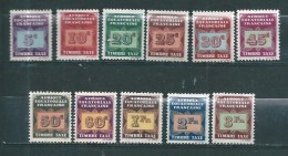Taxes  D'AEF  De 1937 N°1 A 11  Neufs * Petite  Charnière - A.E.F. (1936-1958)