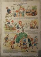 Grande Planche (genre Epinal)  PAUL PARESSEUX  Illustrée Par POULBOT  , Offerte Par GRAF  (CAT 1345) - Publicités