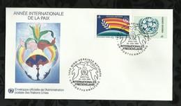 NATIONS-UNIES . FDC . ANNEE INTERNATIONALE DE LA PAIX  . 20 JUIN 1986  . WIEN . - FDC