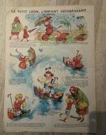 Grande Planche (genre Epinal) LE PETIT LEON  Illustrée Par POULBOT  , Offerte Par GRAF  (CAT 1346) - Advertising