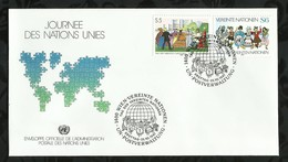 NATIONS-UNIES . FDC . JOURNEE DES NATIONS-UNIES . 20 OCTOBRE 1987  . WIEN . - FDC