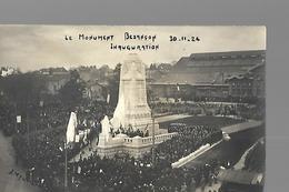 BESANCON, Carte Photo Inauguration Monument Aux Morts - Besancon
