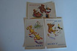 3 Postkaarten Reclame Producten Remy Panadine, Noedels, Remy's Oats - Publicité