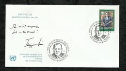 NATIONS-UNIES . FDC . TRYGVE LIE . SECRETAIRE GENERAL .  30 JANVIER 1987  . WIEN . - FDC