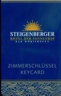 Germany Hotel Key, Steigenberger Hotel Der Sonnenhof, Bad Worishofen (1pcs) - Cartes D'hotel