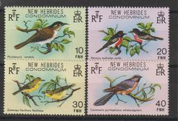 Nouvelles-Hébrides Légende Anglaise 1979 Oiseaux 579-582 ** 4val. MNH - English Legend