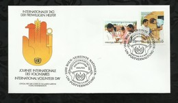 NATIONS-UNIES . FDC . JOURNEE INTERNATIONALE DES VOLONTAIRES . 06 MAI 1988  . WIEN . - FDC