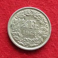 Switzerland 1/2 Franc 1963 KM# 23 Silver Suiça Suisse Svizzera Schweiz Suiza - Switzerland