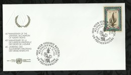 NATIONS-UNIES . FDC . 09 DECEMBRE 1988  . WIEN . - FDC