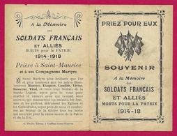 Six Documents Patriotiques Première Guerre Mondiale - Documents