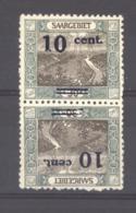 Sarre  :  Mi  72 Krd III  *  Tête-bêche, Le Timbre Avec La Variété Pied Du 1 Cassé Est ** - 1920-35 Société Des Nations