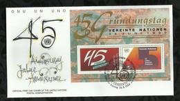 NATIONS-UNIES . FDC . 26 JUIN 1990  . WIEN . - FDC
