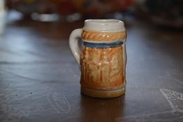 Chope à Bière En Grès Miniature - Verres