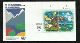 NATIONS-UNIES . FDC . POUR UN ENVIRONNEMENT PLUS SAIN . 15 MARS 1991  . WIEN . - FDC