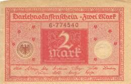 2 Mark Darlehenskassenschein 1920 - 1918-1933: Weimarer Republik