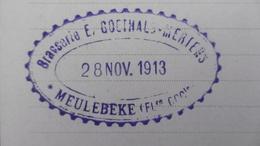 Brasserie Brouwerij E. GOETHALS-MERTENS, Meulebeke Pw, Oblit 28-11-1913. Exp. De Gand Hors Concours, Membre Jury - Postwaardestukken