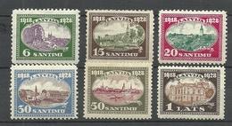 LETTLAND Latvia 1928 Michel 132 - 137 * - Lettonie