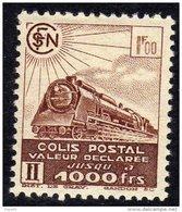 France Colis Postaux N° 177 XX Valeur Déclarée : 1 F. Brun, Sans Charnière, TB - Colis Postaux