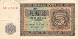 5 Deutsche Mark Deutsche Notenbank (DDR) 1948 - 5 Deutsche Mark