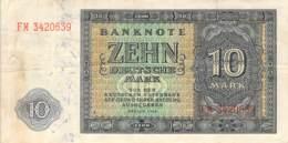 10 Deutsche Mark Deutsche Notenbank (DDR) 1948 - 5 Deutsche Mark