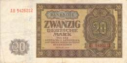20 Deutsche Mark Deutsche Notenbank (DDR) 1948 - [ 6] 1949-1990 : RDA - Rep. Dem. Tedesca