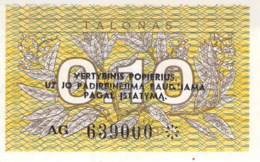 0,10 Talonas Litauen 1991 - Lithuania