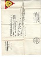 Armée Secrète Csecteur Courtrai - Kortrijk) Citation Ordre Soldat De Reckem Mouscron - Documents Historiques