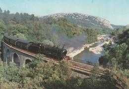 CARTE POSTALE  LOCOMOTIVE VIADUC DE MESCLADOUS - Eisenbahnen