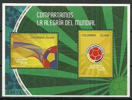 Columbia 2014 Mi Bl 88 MNH ( ZS3 CLBbl88davWC09 ) - Coupe Du Monde