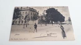 * ARLON  La Caserne Personnages Oblitéré En 1903 - Arlon