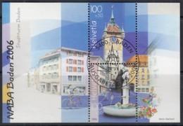 SCHWEIZ  Block 41, Gestempelt, Nationale Briefmarkenausstellung NABA '06, Baden 2006 - Blocks & Kleinbögen