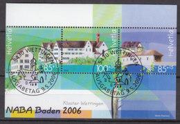 SCHWEIZ  Block 40, Gestempelt, Nationale Briefmarkenausstellung NABA '06, Baden 2006 - Blocks & Kleinbögen