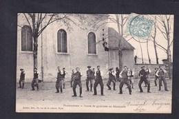 Rare Plombieres Les Dijon Cours De Gymnase (gymnastique Gymnastes ) Au Seminaire ( Boxe Francaise ? Ed. Aubert ) - France
